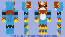 Flamedramon Minecraft Skin