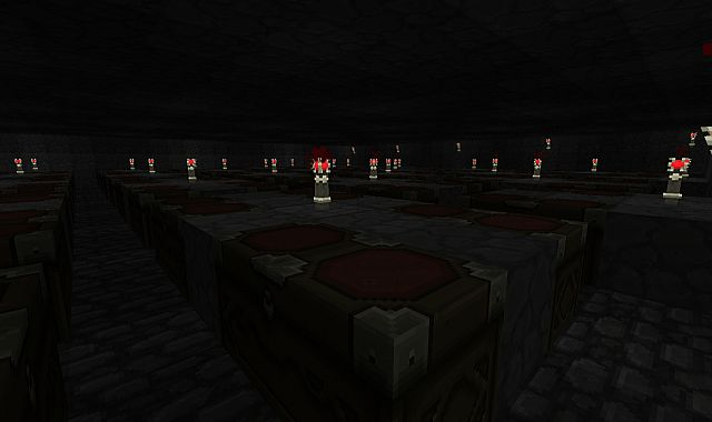 Excavation Storage Chamber v3.0 (more lighting, taken at angle from same place as others, sign is to the right, left side is symetrical.)