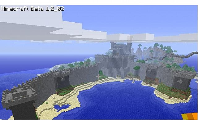 screenshot of the castle in daytime