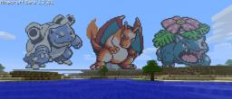 Charizard, Blastoise and Venusaur Minecraft Map & Project