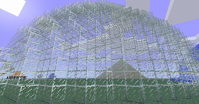 Images of Minecraft Glass Dome - #rock-cafe