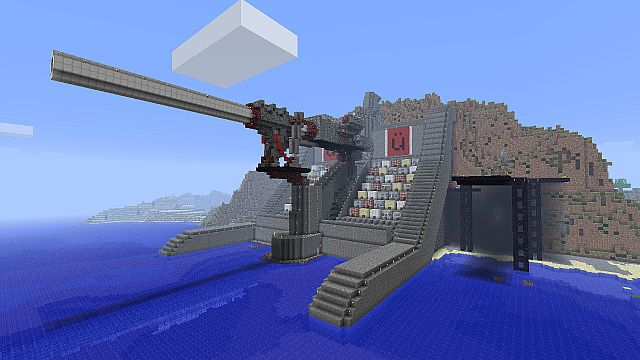 how to make a giant tnt cannon in minecraft