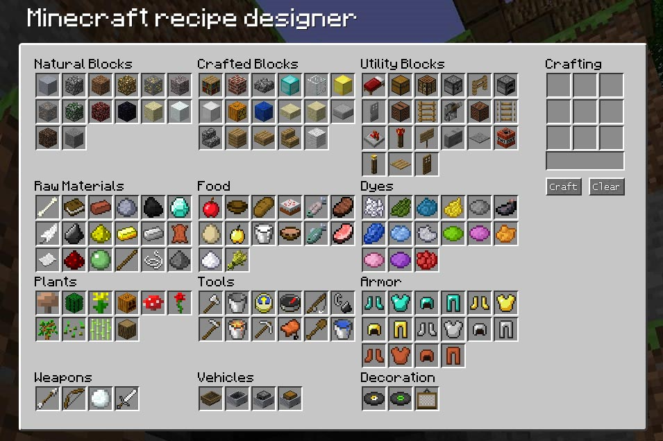Bed minecraft recipe images for Minecraft xbox one crafting recipes