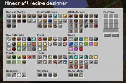 minecraft recipe designer Minecraft
