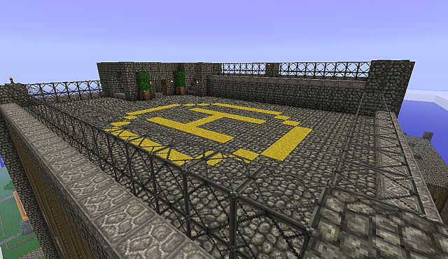 Private helipad for the quests in suites.