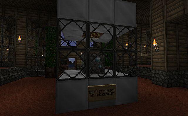 Diamond exhibition in the lobby.