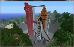 1:1 Scale Space Shuttle on Launch Pad Minecraft Map & Project