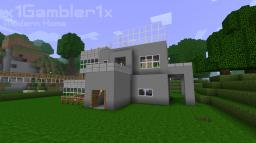 Basic Modern Home Minecraft Map & Project