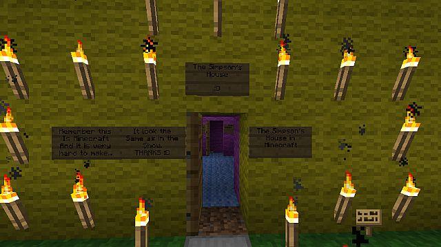 Simpson house front door
