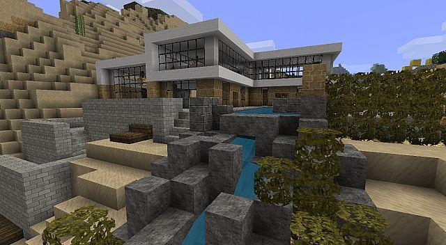Modern house beach town project minecraft project for Modern house projects