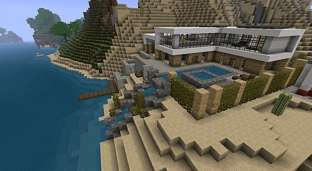 Modern House Beach Town Project Minecraft Project