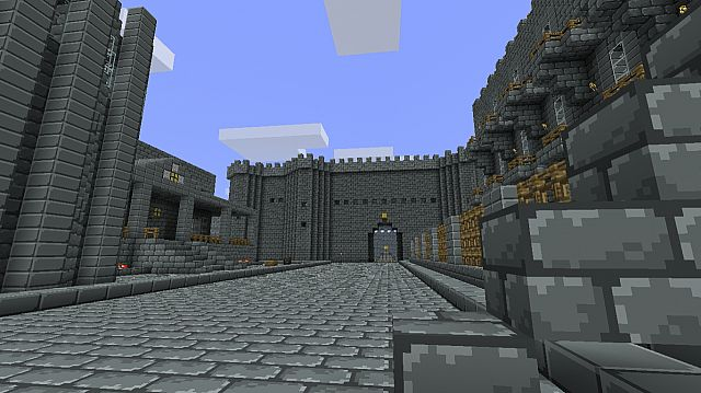This is the street that comes after the gatehouse with an incomplete mansion to the left