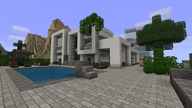 Modern house 2 beach town project minecraft project for Maison moderne minecraft xbox one