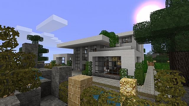 Modern House 2 - Front entrance.