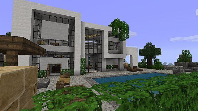 Modern house 2 beach town project minecraft project for Project modern house