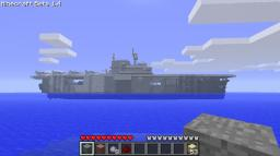 1000 blocks long Aircraft Carrier Minecraft Map & Project
