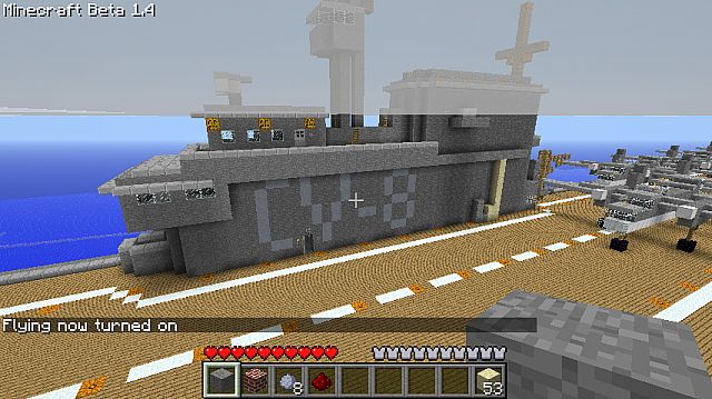 how to build a aircraft carrier in minecraft