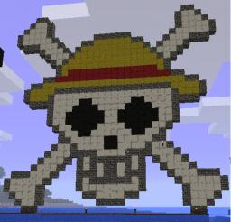 Luffy flag Minecraft Map & Project