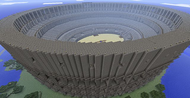1 1 Scale Ancient Roman Colosseum Minecraft Project
