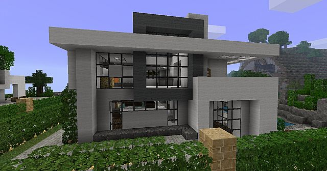 Modern house 3 beach town project minecraft project for Modern house projects