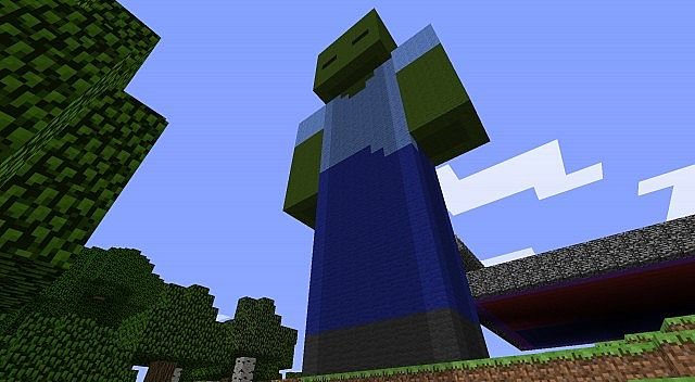 Giant zombie minecraft project for Zombie build