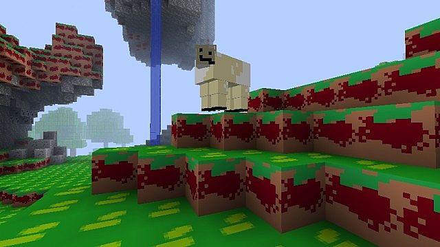 Hey sheep! Looking...disfigured!