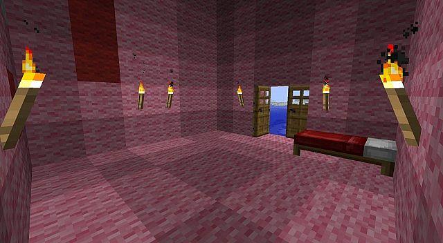 Inside the Pig House.