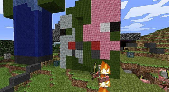 Zombie Pigman Head Minecraft