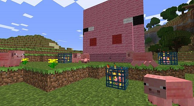 Pig party! (Note: There are no pig spawners in the schematic.)