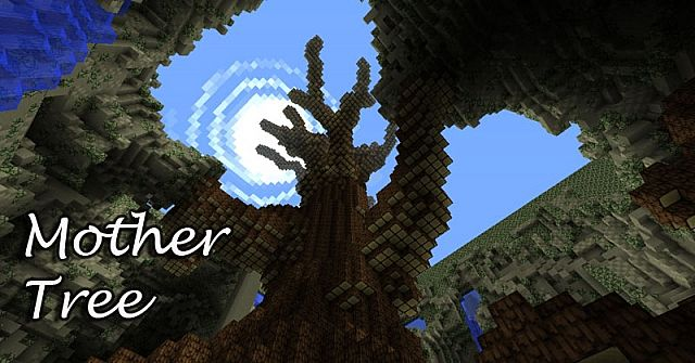 big huge tree  with schematic   minecraft project