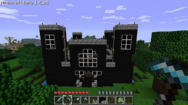 obsidian castle 3 obsidian castle 3 diamondsMinecraft Obsidian House