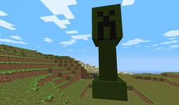 Creeper Statue Minecraft Project