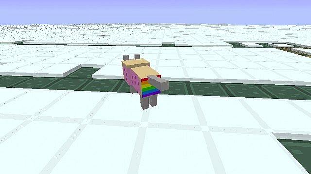 Tamed Nyan Wolf. rainbows....