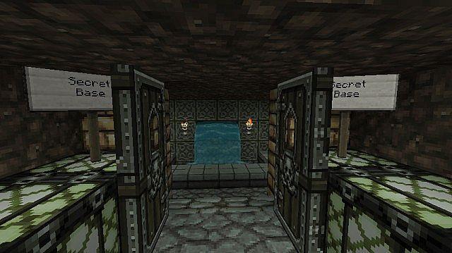 Inside the secret base