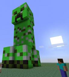 Giant Creeper Minecraft Map & Project
