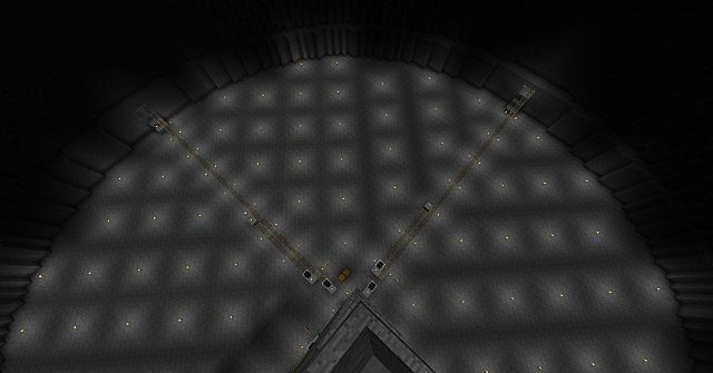 Transportation level from top of the unbuilt floors above