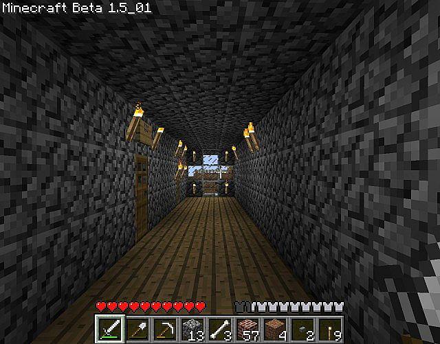 Each floors hallway - now with wooden floors!
