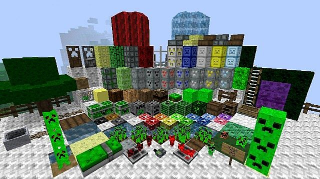 Preview of block textures on the Texture Pack Test Track Map made by copperdomebodha