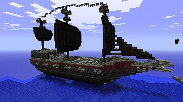 Black pearl inspired boat! Minecraft Project
