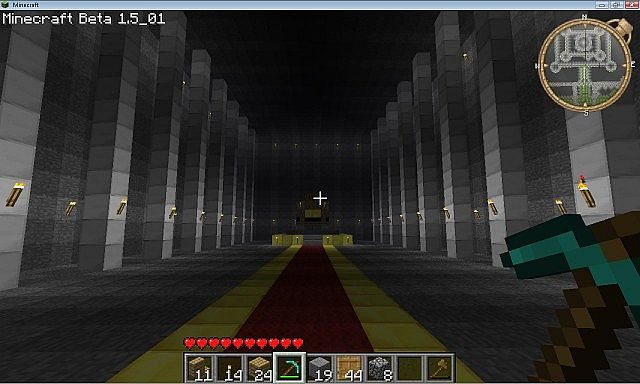 minecraft castle throne room throne room