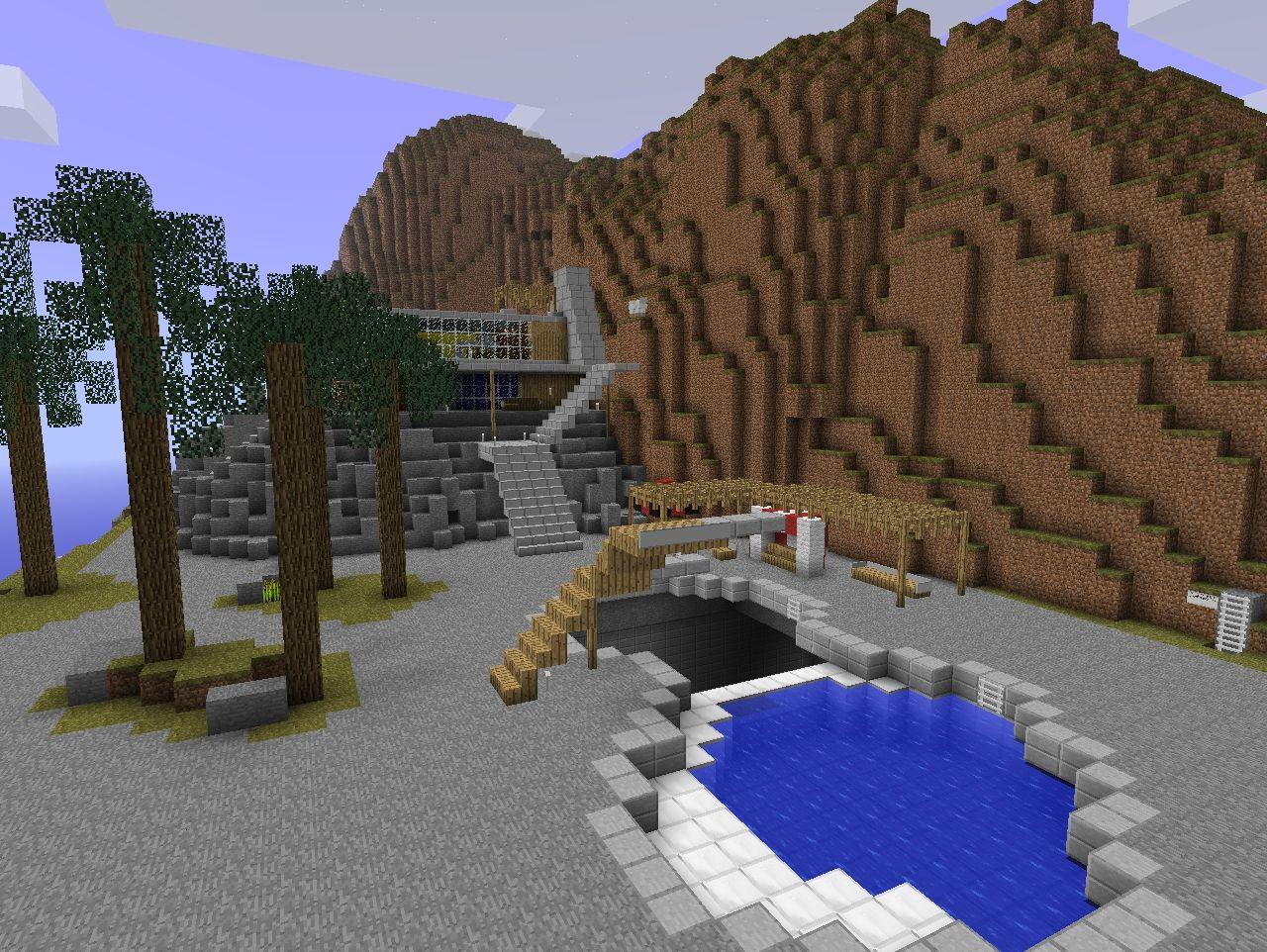 Thunderbirds Tracy Island Minecraft Project