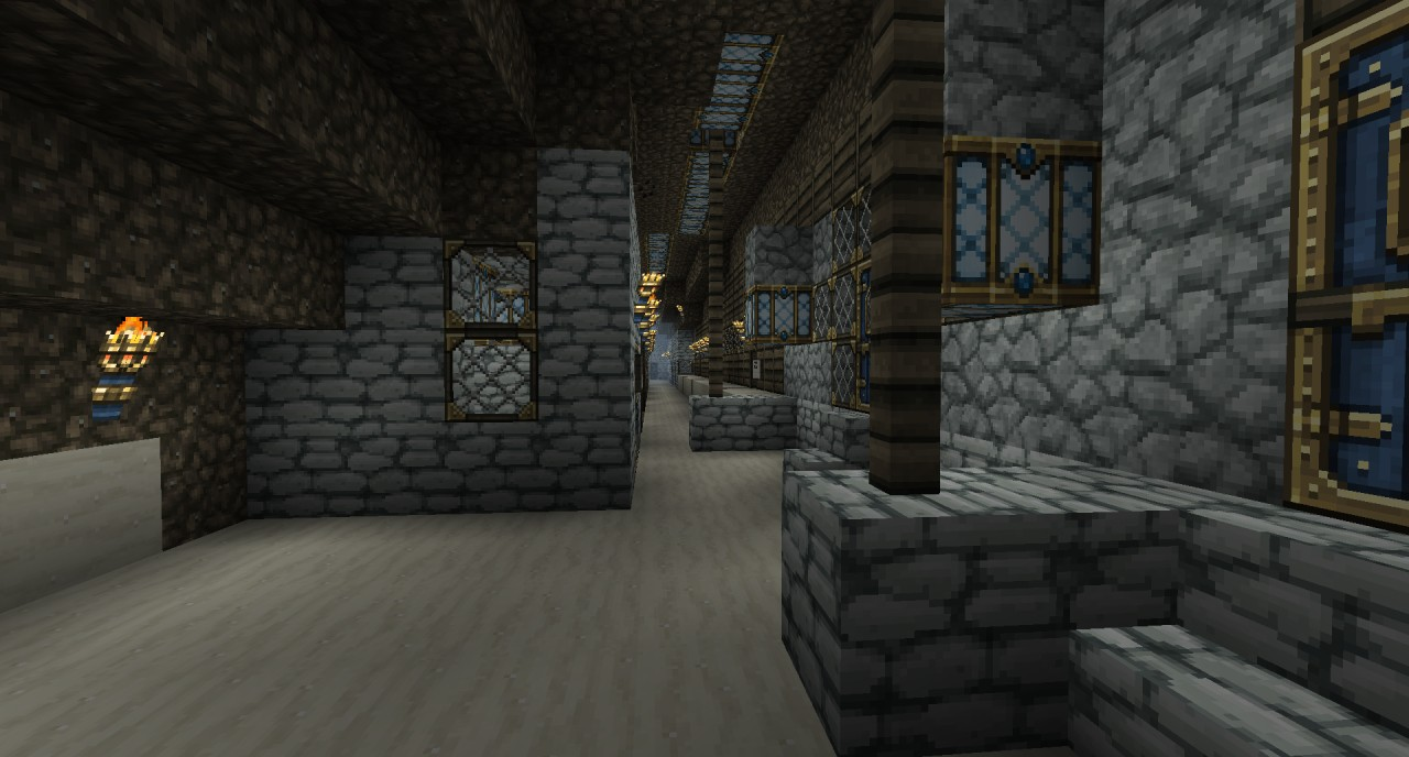 inside the sand walls of the cove are hollow so we decided to build slums inside it