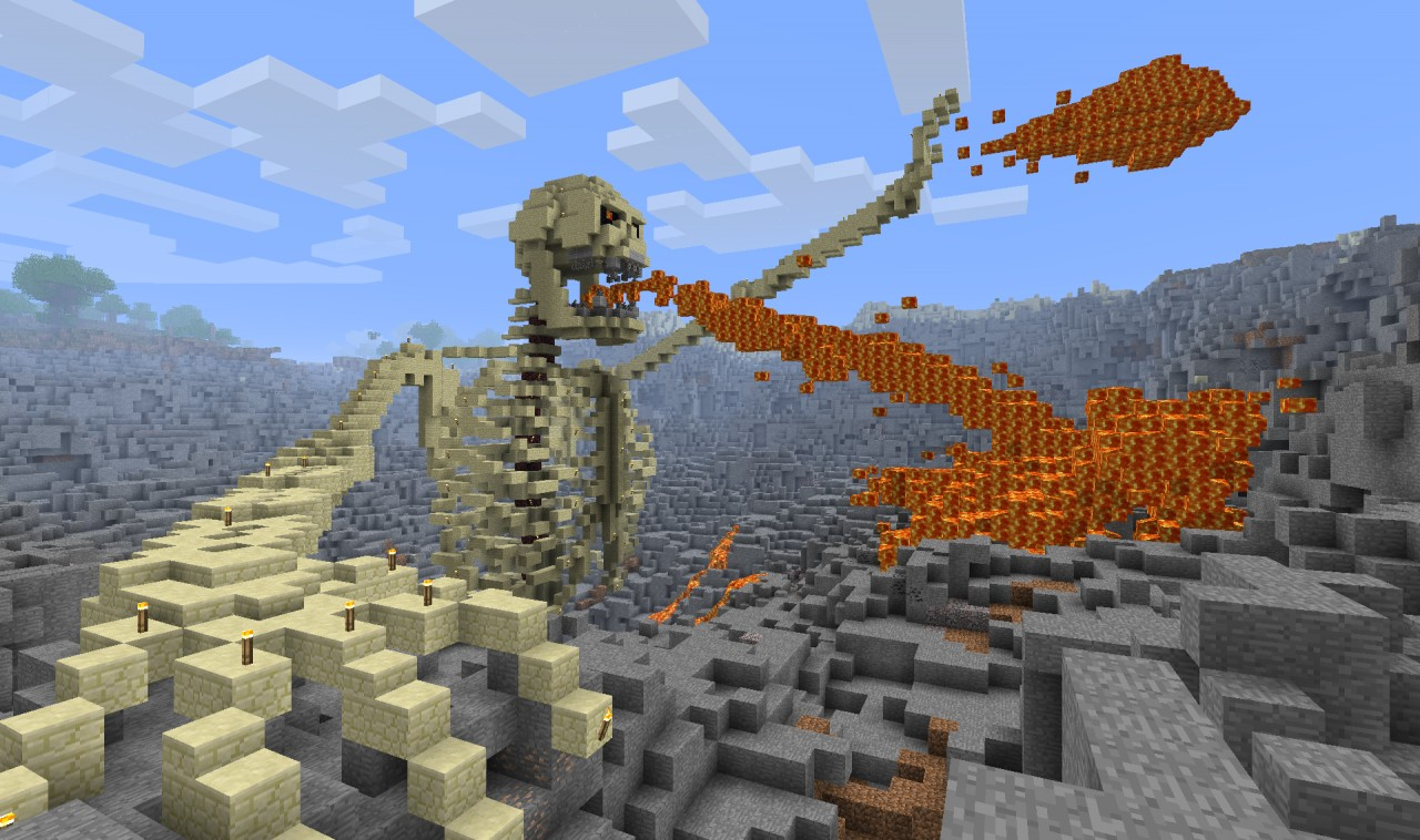 Angry lava vomiting skeleton in a hell hole minecraft for How to find a builder