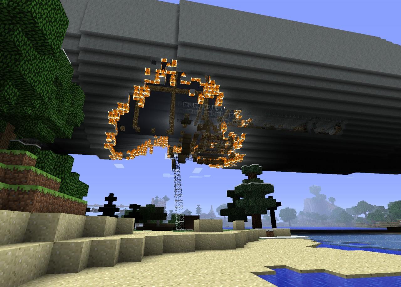 Hindenburg With Interior Minecraft Map