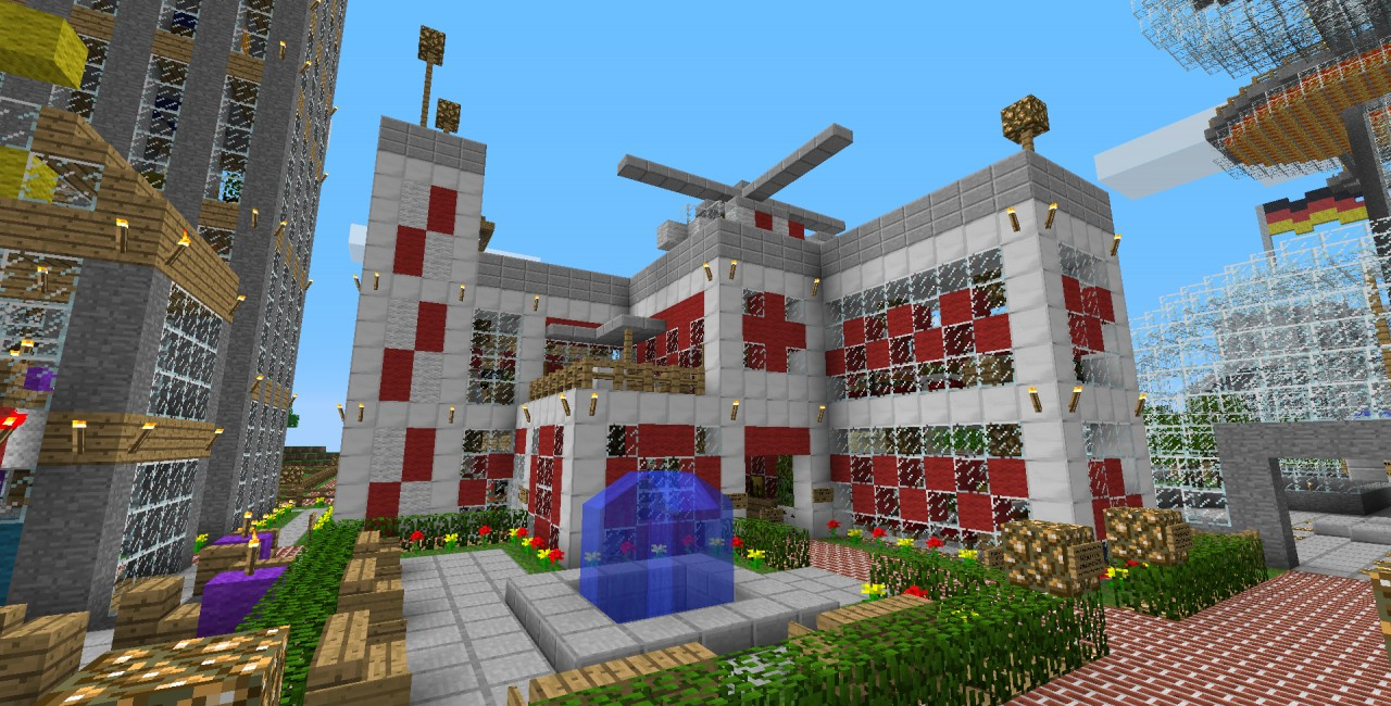 Hospital World Save Schematic Minecraft Project