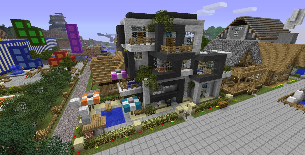 Modern house server online minecraft project for House project online