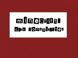 MINECRAFT: DARK CONSPIRACIES: ADVENTURE MAP. Minecraft Map & Project