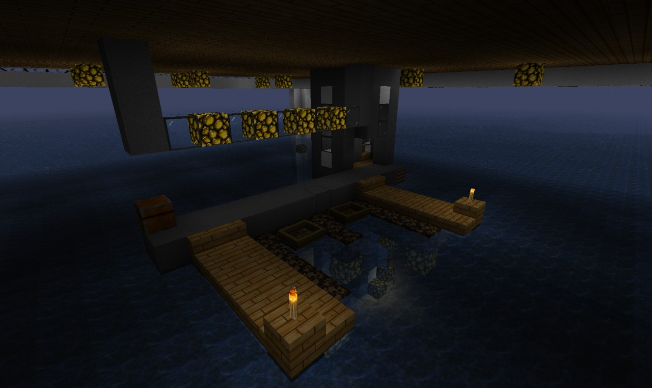 Small dock underneath the house.