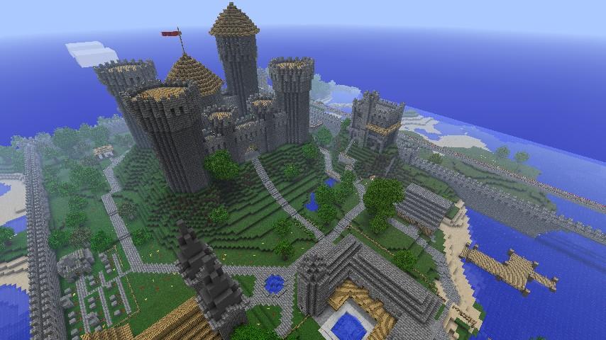 NIPL Minecraft Server - Medieval Village / Castle