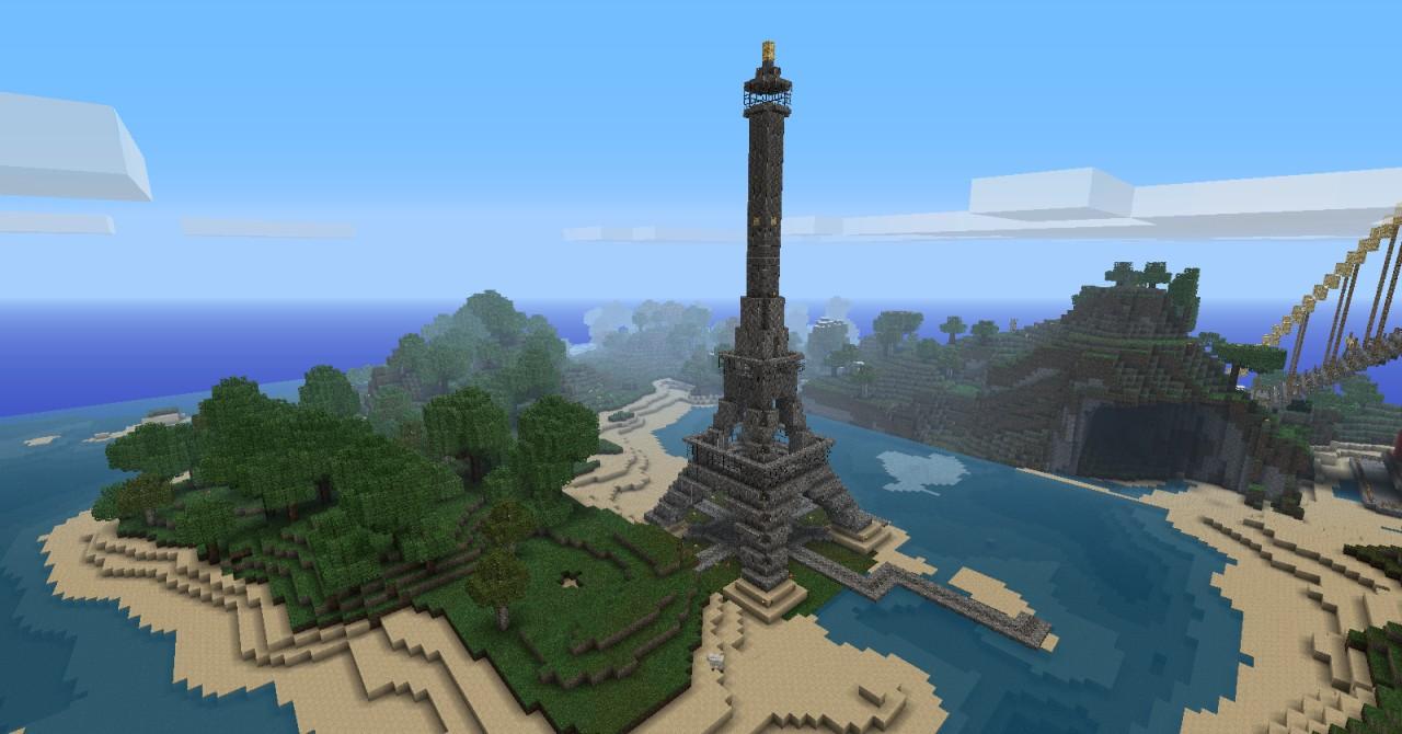 скачать карту для minecraft эйфелева башня #11